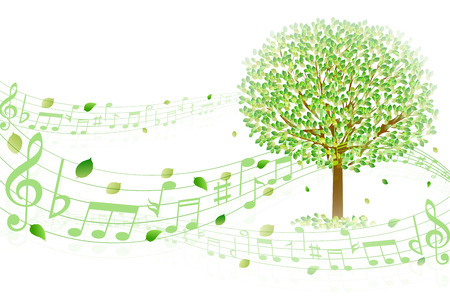 Leaf note achtergrond