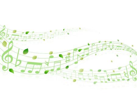 young leaf: Leaf note background