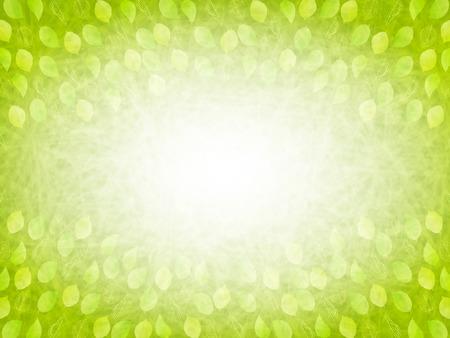 잎 신선한 녹색 배경 일러스트