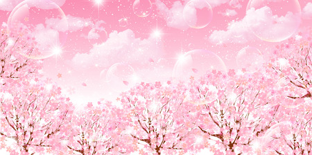 Cherry sky background