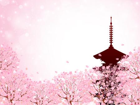 Cherry Kyoto background