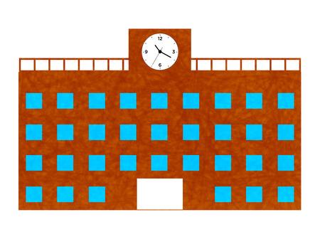 Школа: Школа здание школы Иллюстрация