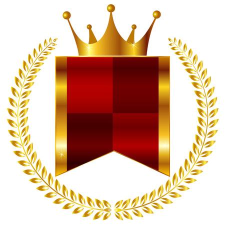 Crown medal frame Vector