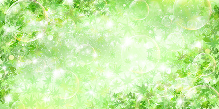 Leaf fresh green background Vector