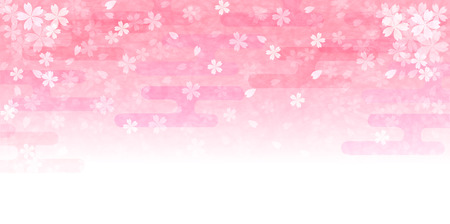 Cherry Japanese paper background Vector