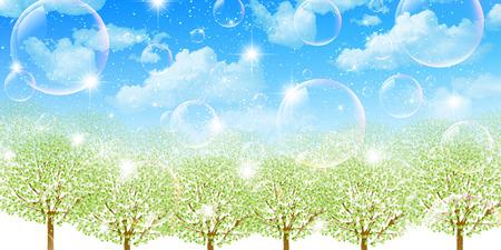 aoba: Tree leaf fresh green Stock Photo