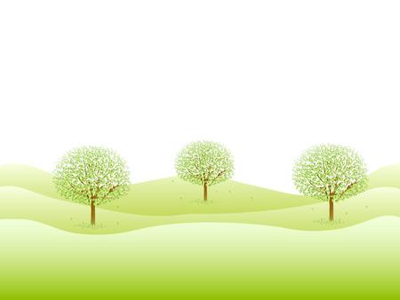 ツリーの葉の背景  イラスト・ベクター素材