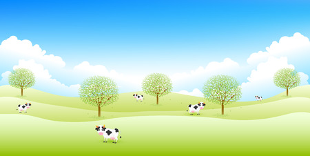 aoba: Cattle ranch background