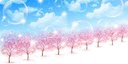 Cherry blossom background Vector