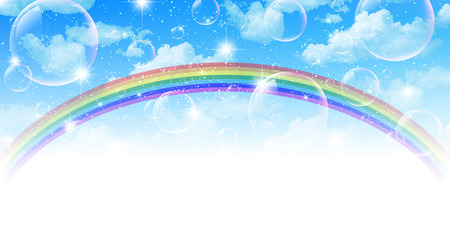 Sky rainbow background Vector