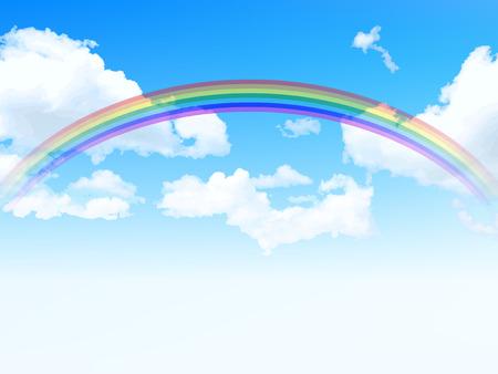 rainbow sky: Rainbow sky background