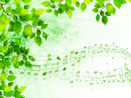 early summer: Leaf note background