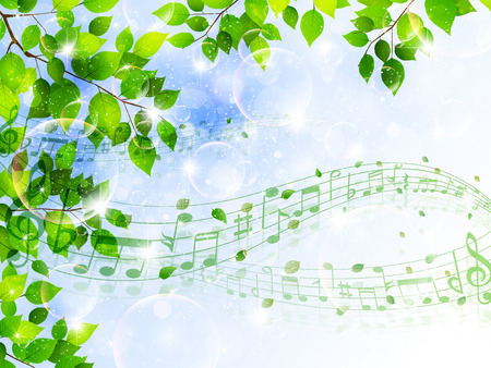 Leaf note background
