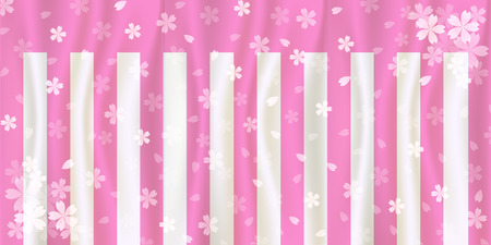 white curtain: Cherry red and white curtain