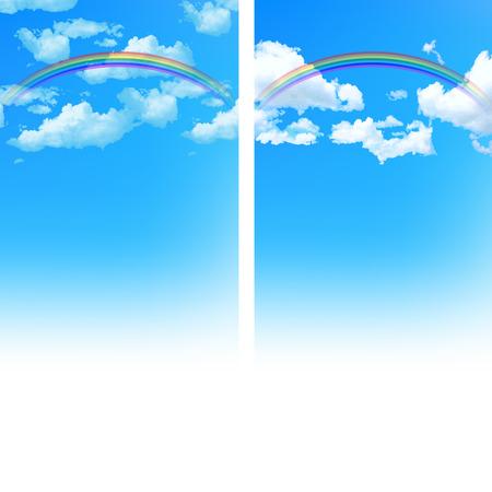 rainbow sky: Sky rainbow background Stock Photo