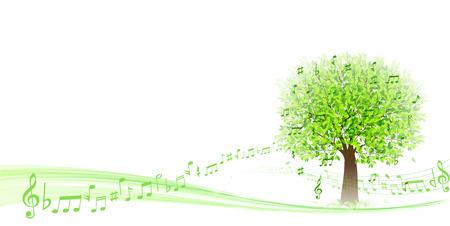 Leaf fresh green background Ilustrace