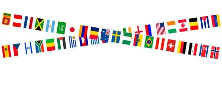 meet: Flags athletic meet events Illustration