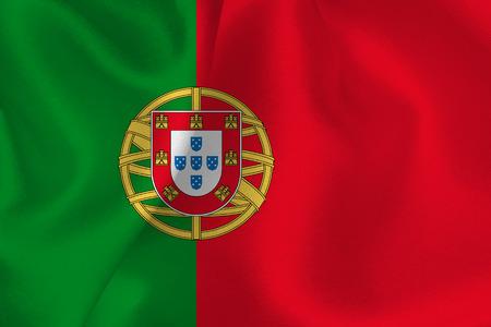 drapeau portugal: Portugal drapeau Illustration