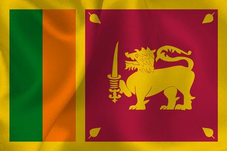 スリランカを旗します。
