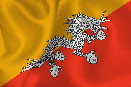 bhutan: Bhutan flag flag Stock Illustratie