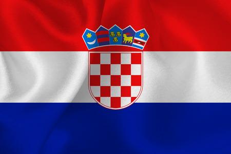 bandera croacia: Bandera Croacia Vectores