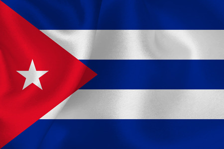 bandera cuba: Cuba bandera bandera Vectores
