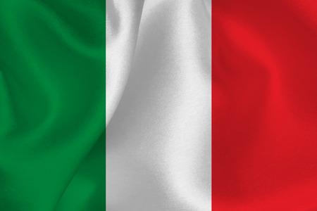 Italiaanse vlag vlag Stock Illustratie