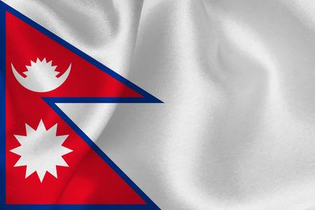 ネパールを旗します。