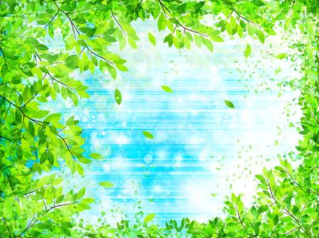 葉新鮮な緑の背景