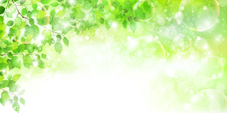 Leaf fresh green background Ilustracja