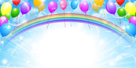 Sky balloons background 向量圖像