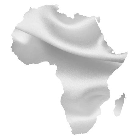 아프리카지도 실루엣 일러스트
