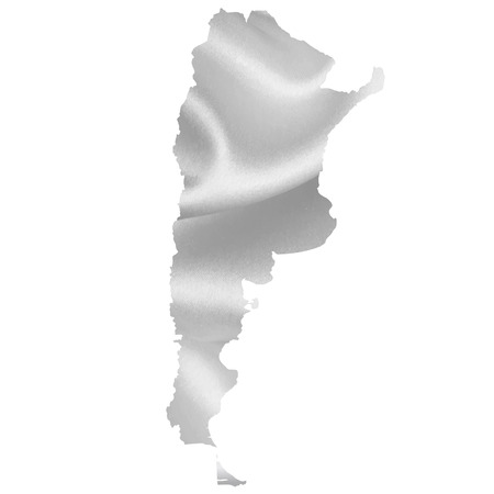 argentina map: Argentina map silhouette