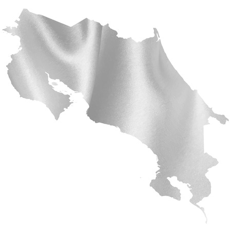 costa: Costa Rica map silhouette Illustration