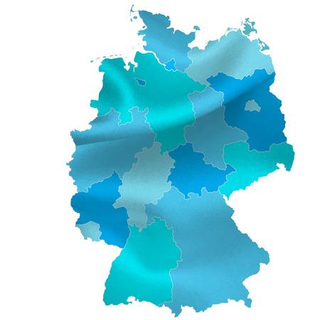 deutschland karte: Deutschland Karte L�nder Illustration