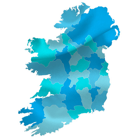 ireland cities: reland map countries Illustration