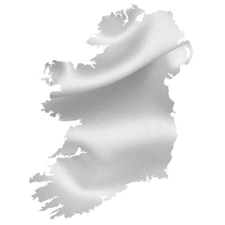 ireland: Ireland map silhouette Illustration