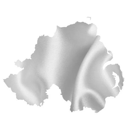northern ireland: Northern Ireland map silhouette