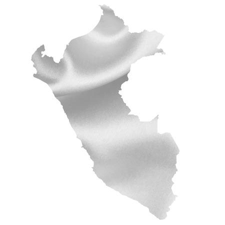 mapa del peru: Per� mapa silueta Vectores