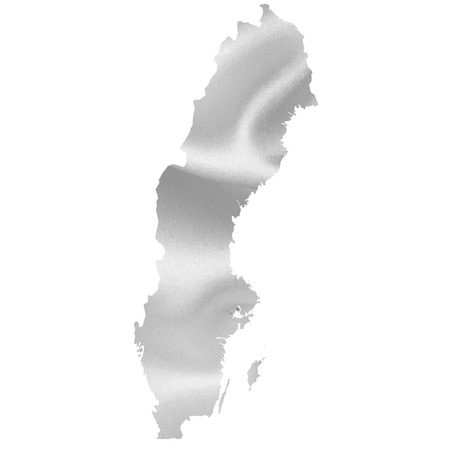 sweden map: Sweden map silhouette