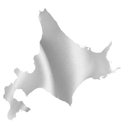 hokkaido: Hokkaido map Silk