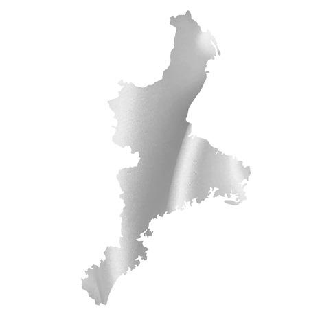 prefecture: Mie Prefecture map Silk Illustration