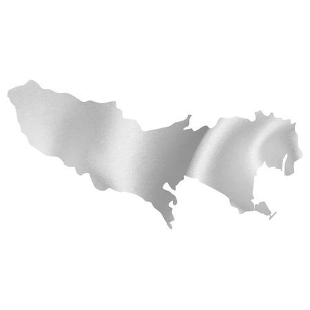 silver silk: Tokyo map Silk