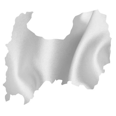silver silk: Toyama map Silk Illustration