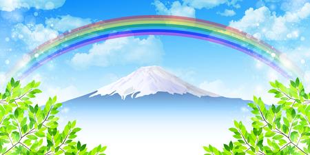富士新鮮な緑の背景