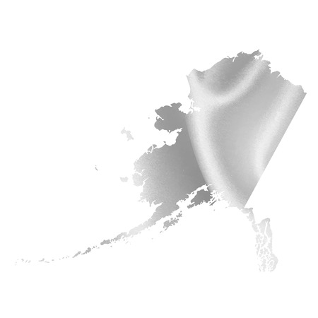 alaska map: Alaska map Silk Illustration