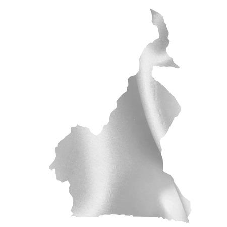 cameroon: Camerun Mappa Silk Vettoriali