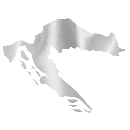 croatia: Croatia map Silk Illustration