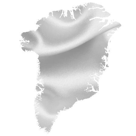 greenland: Greenland map Silk