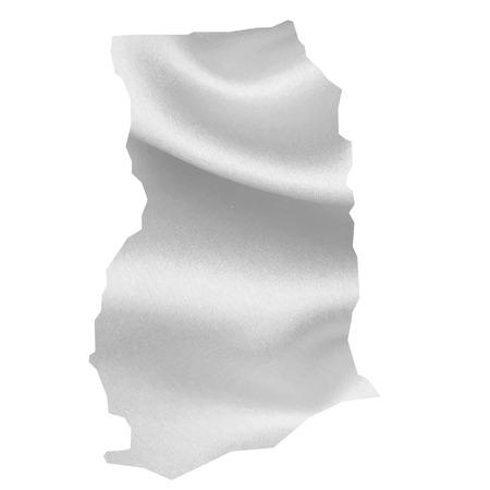 ghana: Ghana map Silk